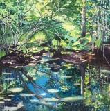 """Acadia Reflections, Mary Allen, Watercolor, 12""""x12"""""""