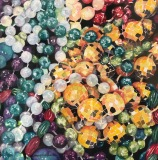 "Mardis Gras - ""Throw Me Somethin' Mistah!,"" Mary Allen, Watercolor, 8""x8"""