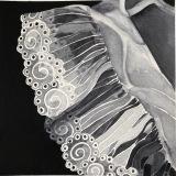 "Lace II, Mary Allen, Watercolor, 10""x10"""