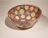 Sara Schneidman, Circles, 10.5x4.75, ceramics