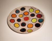 Sara Schneidman, Platter-of-Circles, 13.75x1, ceramics