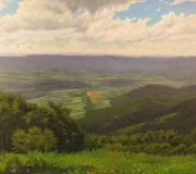 Tom Tartaglino, Fishers Gap Overlook, oil on panel, 36x40