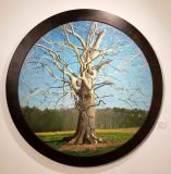 "Tom Tartaglino, The Great Tree, oil on linen, 34"" Round"