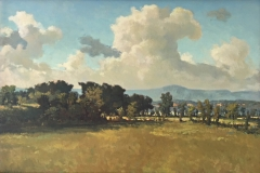 """Cash's Valley, Ron Boehmer, Oil on canvas 17-1/2"""" x 25"""" (framed)"""