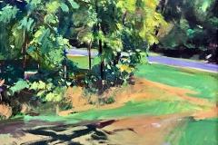 "Transfiguration Series - Avon Hall, Little Washington VA, Clive Pates, Oil on Linen 38"" x 31"""