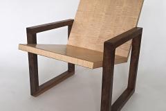 """Chair, Maple and Walnut Lynn Pittinger, Lynn Pittinger Chair Maple and Walnut 30-1/2"""" x 24"""" x 29-3/4"""""""