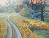 Gina Blickenstaff, Near Bear Creek Trail, Oil on Canvas, 24x30