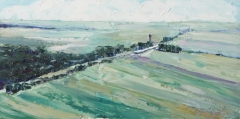 Debra Schaumberg, Overlooked, Oil on Linen, 8x16