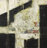 Martha Prideaux, Distill, Cold Wax on Wood Panel, 12x12