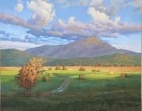 "Along Emerald Lane at Sunrise, Kevin Adams, 30"" X 40"" oil on canvas"