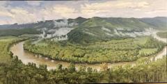 "Between Rain Drops, Kevin H. Adams, 18""X36"" oil on canvas"