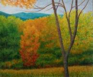 Autumn Colors V, Benita Rauda Gowen, acrylic collage