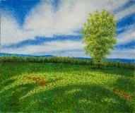 Early Summer II, Benita Rauda Gowen, acrylic collage