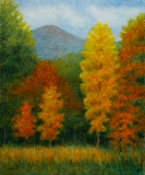 Fall at Over the Hill IV, Benita Rauda Gowen, acrylic collage