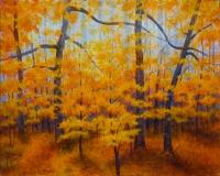 Late Fall III, Benita Rauda Gowen, acrylic collage