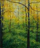 Spring in the Woods II, Benita Rauda Gowen, acrylic collage