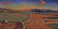 "Spring Cut, Chris Stephens, Oil on Panel, 24""x 48"""