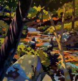 """Water in the Woods, Thomas Spande, Oil on Panel, 30""""x 32"""""""