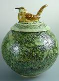 Nesting Wren Pot, Dawn Mickel