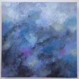 Silent Whisper, Jennifer Tepper Heverly, acrylic on canvas, 16 x 16