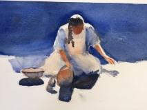 Oaxaca Potter, Nancy Keyser, watercolor