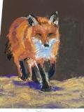 Reynaud the Fox, Nancy Keyser, pastel