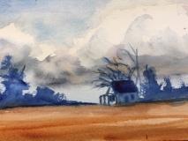 Storms a' Comin, Nancy Keyser, watercolor