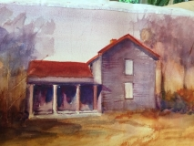 New Post Office, Nancy Keyser, watercolor