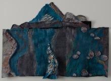 Rocky Run Meditation, Dabney Kirchman, handmade merino wool felt, 48 x 36