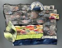The Cloud Catches the Forest, Dabney Kirchman, handmade merino wool felt, 26 x 22