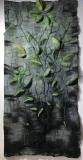 In Memoriam Carolina Parakeet, Dabney Kirchman, handmade merino wool felt, 30 x 60