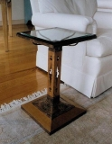 Glass Side table, Peter Kramer