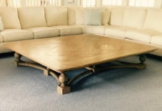 "84"" Ash Coffee Table, Peter Kramer"