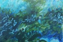 Dancing Water, Pam Pittinger, Acrylic, 24x24