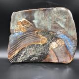 Susan Hornbostel Platter Old Stream 7.25x8 Stoneware
