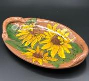 Nancy Nord Sunflowers 9x4x1 Earthenware