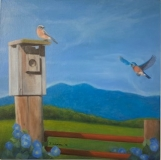 Dreaming a New Earth, Bonnie Dixon, oil on canvas