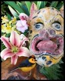 Costa Rica Jaguar Spirit, Barbara Serbent, mixed media on archival pigment print 8 x 10