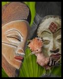 Ivory Coast , Barbara Serbent, mixed media on archival pigment print 8 x 10