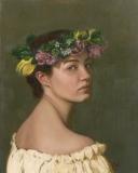 Girl in a Wreath, Lori Wallace-Lloyd, oil on canvas