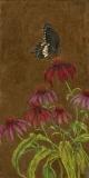 Coneflower & Butterfly, Lori Wallace-Floyd, oil on canvas