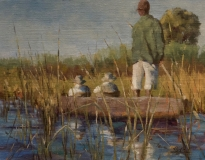 Okavango Delta, Nedra Smith, oil 14 x 18
