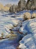 Winter on Battle Run, Nedra Smith, oil 16 x 12