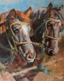 WorkingTogether, Nedra Smith, oil 30 x 24