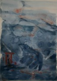 Emergence II, Marilyn Hayes, Watercolor Guache, 19x22