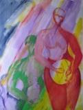 Emergence III,  Marilyn Hayes, Watercolor Guache, 19x22