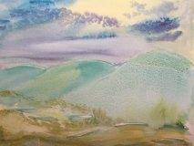 Moonlit, Jane Forth, watercolor, 11x14