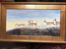 Deer  n Mist, Geneva Welch, Oil On Canvas, 18x30