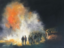 "Farewell Bonfire, Ruthie Windsor-Mann, 30X40,"" Oil on Canvas"